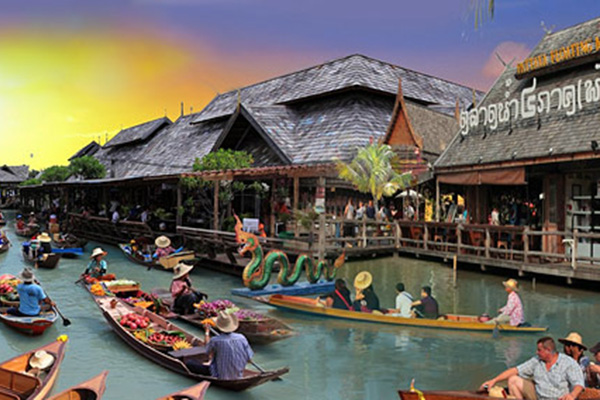 iCheck inn Hotels Pattaya Travel: Four Region Floating Market